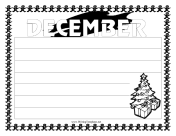 December Writing Template Writing Template