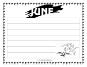 June Writing Template Writing Template